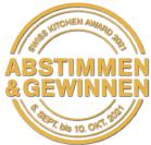 Swiss Kitchen Award – Abstimmbutton für PIU GRIGIA –die schönste Küche
